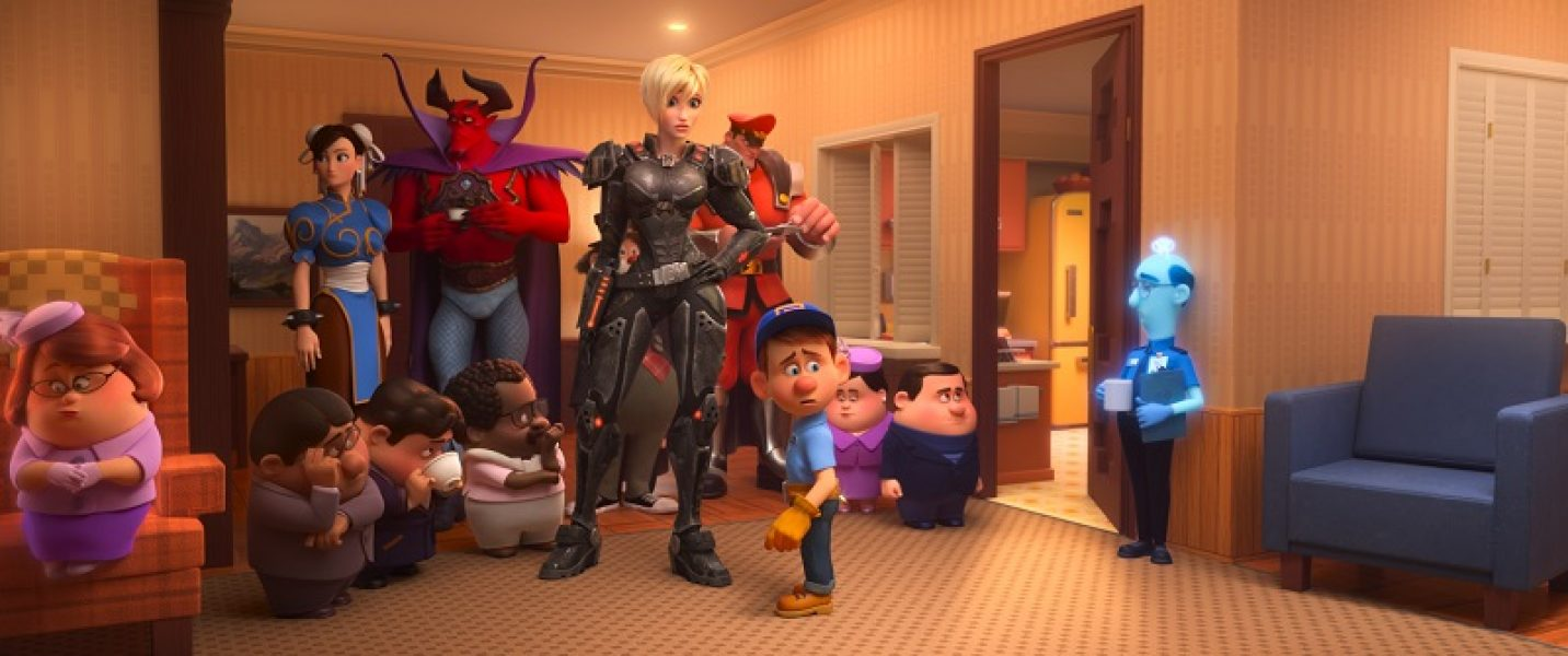"""GAME OVER – In """"Ralph Breaks the Internet,"""" Litwak is forced to unplug Vanellope's game when it is accidentally broken, leaving the Sugar Rush racers with nowhere to go. Calhoun and Felix team up with several members of the arcade's gaming population to figure out what to do next. Featuring Jane Lynch and Jack McBrayer as the voices of Calhoun and Felix, """"Ralph Breaks the Internet"""" opens in U.S. theaters on Nov. 21, 2018. ©2018 Disney. All Rights Reserved."""